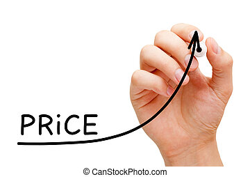 Increasing Price Business Graph Concept