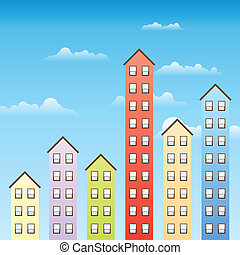 Increasing Property Value - Several building of varying ...
