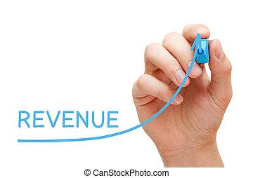 Increasing Revenue Graph Concept