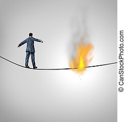 Increasing Risk - Increasing risk business concept and...