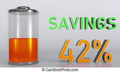 Increasing savings conceptual animation