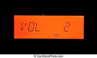 Increasing Volume - Red Display of Micro HiFi Systems