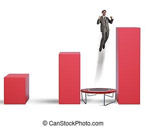 Increasingly top - Man jumps between statistics on the...
