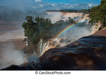 Incredible and gorgeous waterfalls of Iguazu, Argentina.