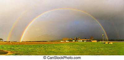 Incredible Double Rainbow - Rainbow photo - taken close to...