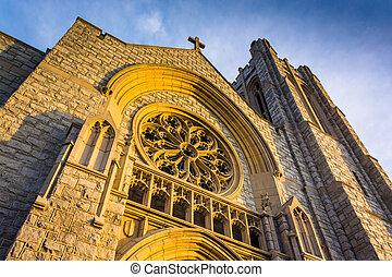 Incredible exterior architecture at a church in Hanover, Pennsylvania.
