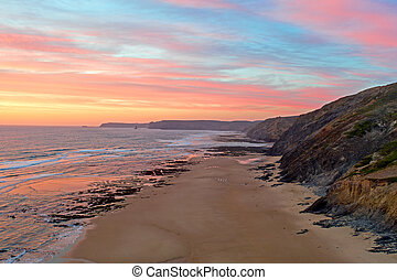 Incredible sunset at the westcoast from Portugal