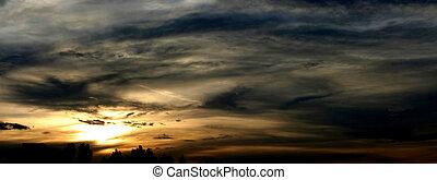 incredible sunset - panoramic view (blurred)