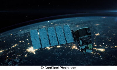 Incredible view of Satellite Orbiting the Earth.