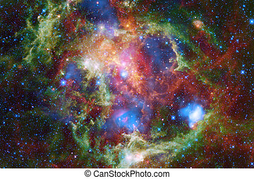 Incredibly beautiful galaxy many light years far from the Earth.