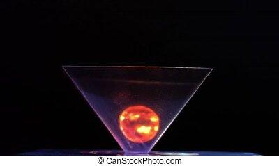 incredibly beautiful moving hologram