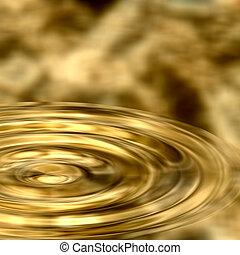 increspature, in, oro liquido