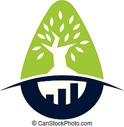 incubateur, arbre, business