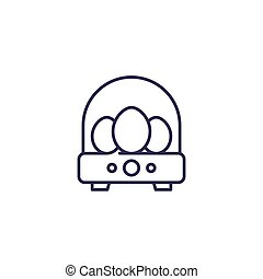 incubator with eggs, line icon, eps 10 file, easy to edit