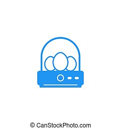 incubator with eggs vector icon, eps 10 file, easy to edit