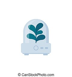 incubator with plant vector icon, eps 10 file, easy to edit