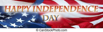 indépendance, heureux, jour