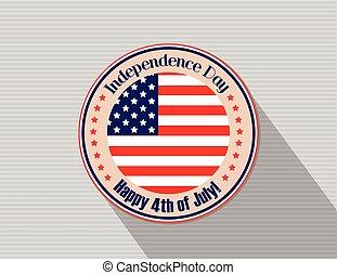 indépendance, juillet, 4ème, américain
