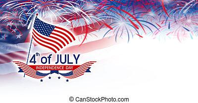 indépendance, juillet, 4, jour