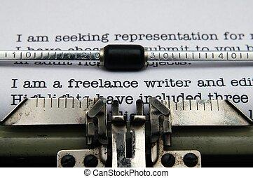 indépendant, écrivain, lettre