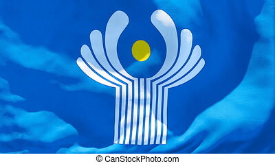 indépendant, drapeau, flottements, commonwealth, etats, ...