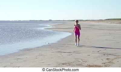 indépendant, formation, femme, sprinter, femme, coureur, ...