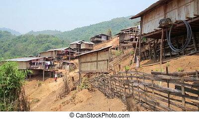 Tribu, pongsali, tribal, cultura indígena, aldea, akha, laos