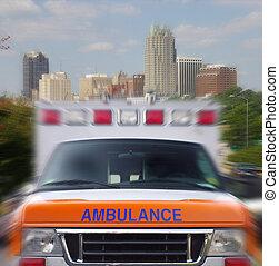 indítvány, mentőautó