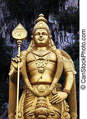 indù, batu, caverne, tempio