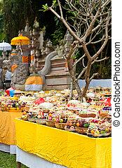 indù, offerta, tempio, bali