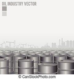 indústria, óleo, fundo