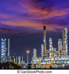 indústria, óleo,  refinary