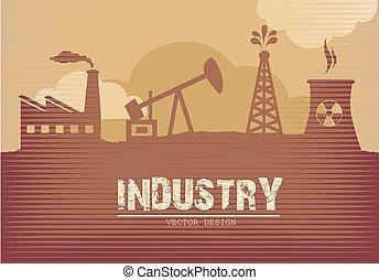 indústria, cartaz