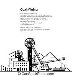 indústria carvão, cartaz