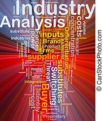 indústria, conceito, análise, fundo, glowing
