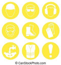 indústria construção, ícones