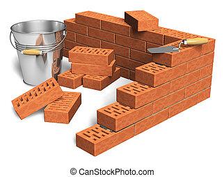 indústria construção, conceito
