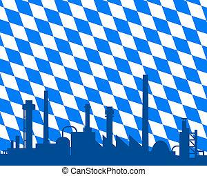 indústria, e, bandeira, de, bavaria