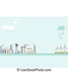 indústria, e, energia limpa