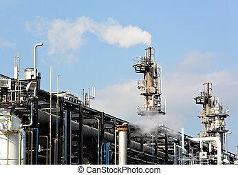 indústria, gás