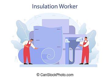 indústria, insulation., acústico, ou, isolação, concept., construção, térmico