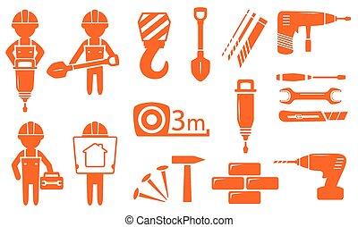 indústria, jogo construção