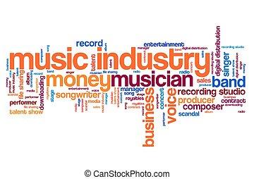 indústria, música