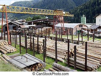 indústria, madeira
