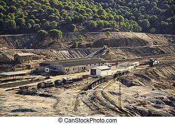 indústria, mineração, abandonado