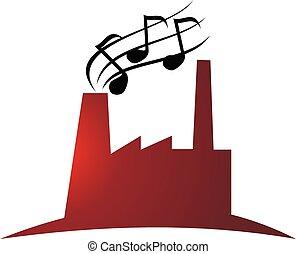indústria, producao, música