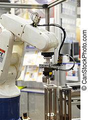 indústria, robô
