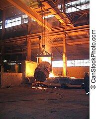 indústria, smelting