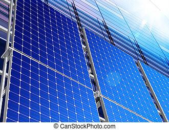indústria, solar