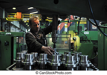 indústria, trabalhadores, fábrica, pessoas